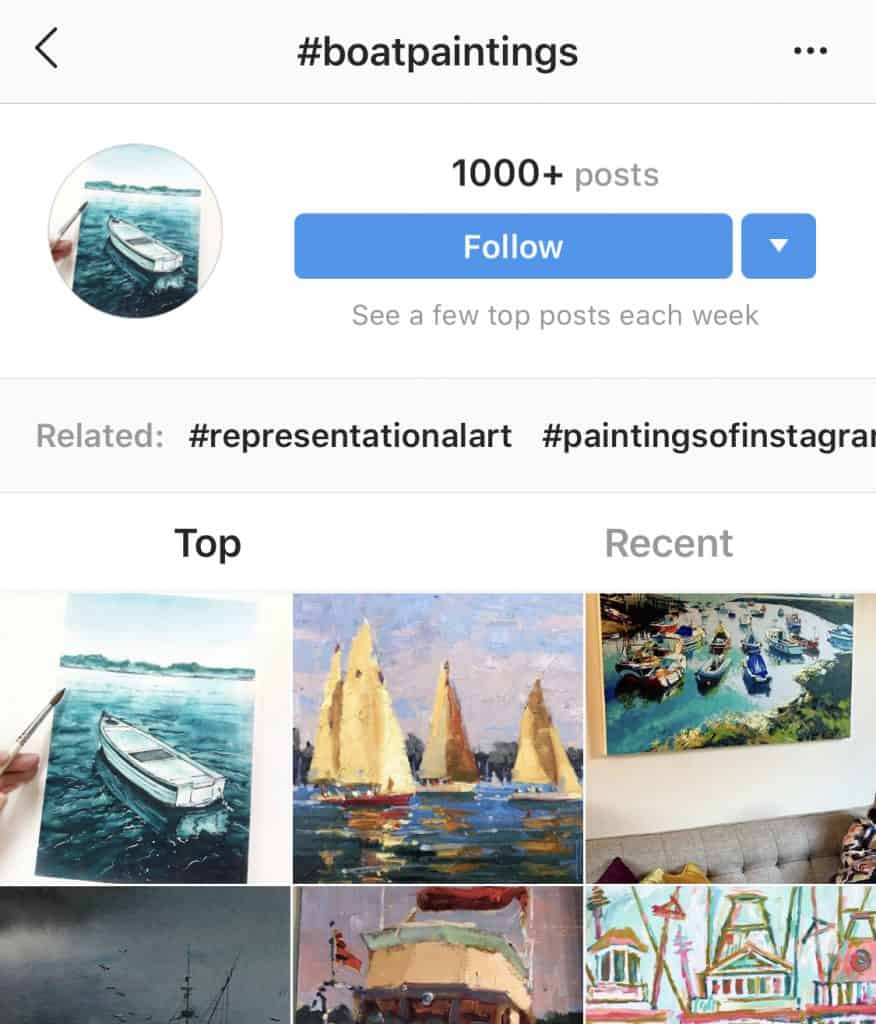 boatpaintings hashtag - popular art hashtags on Instagram