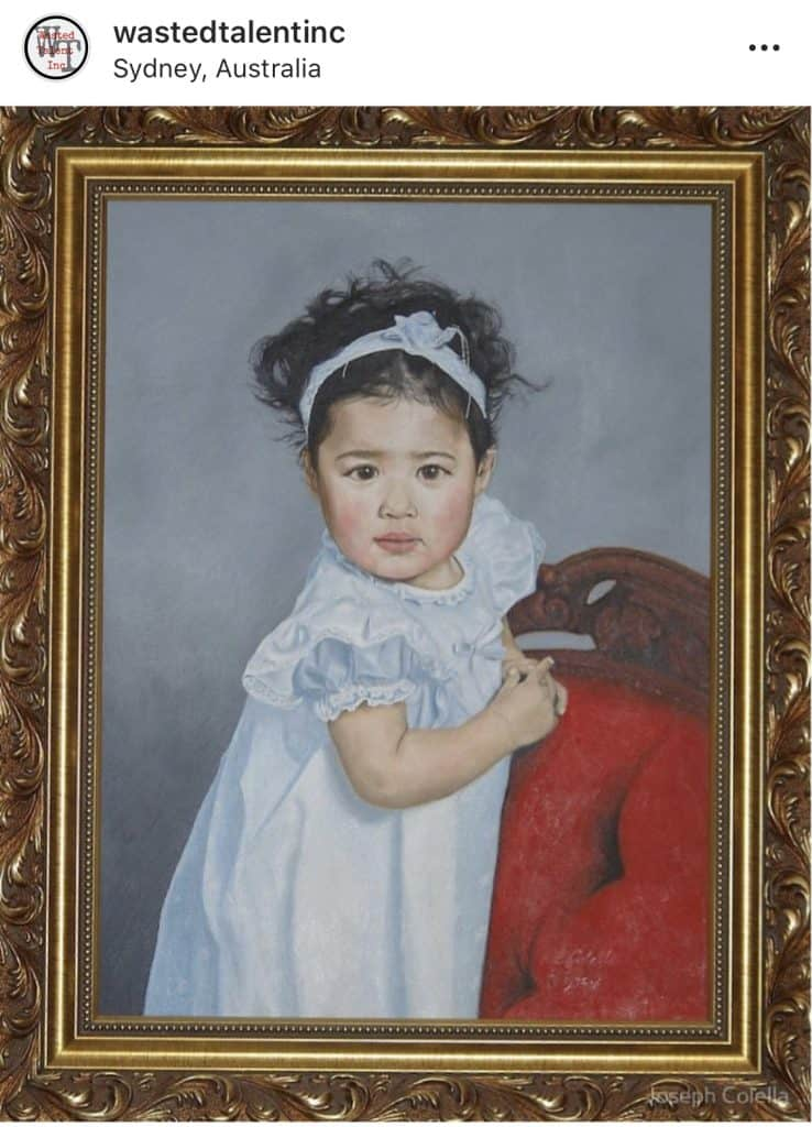 A portrait of my god-daughter Dyana. Commissioned by her parents. Artist: Joseph Colella