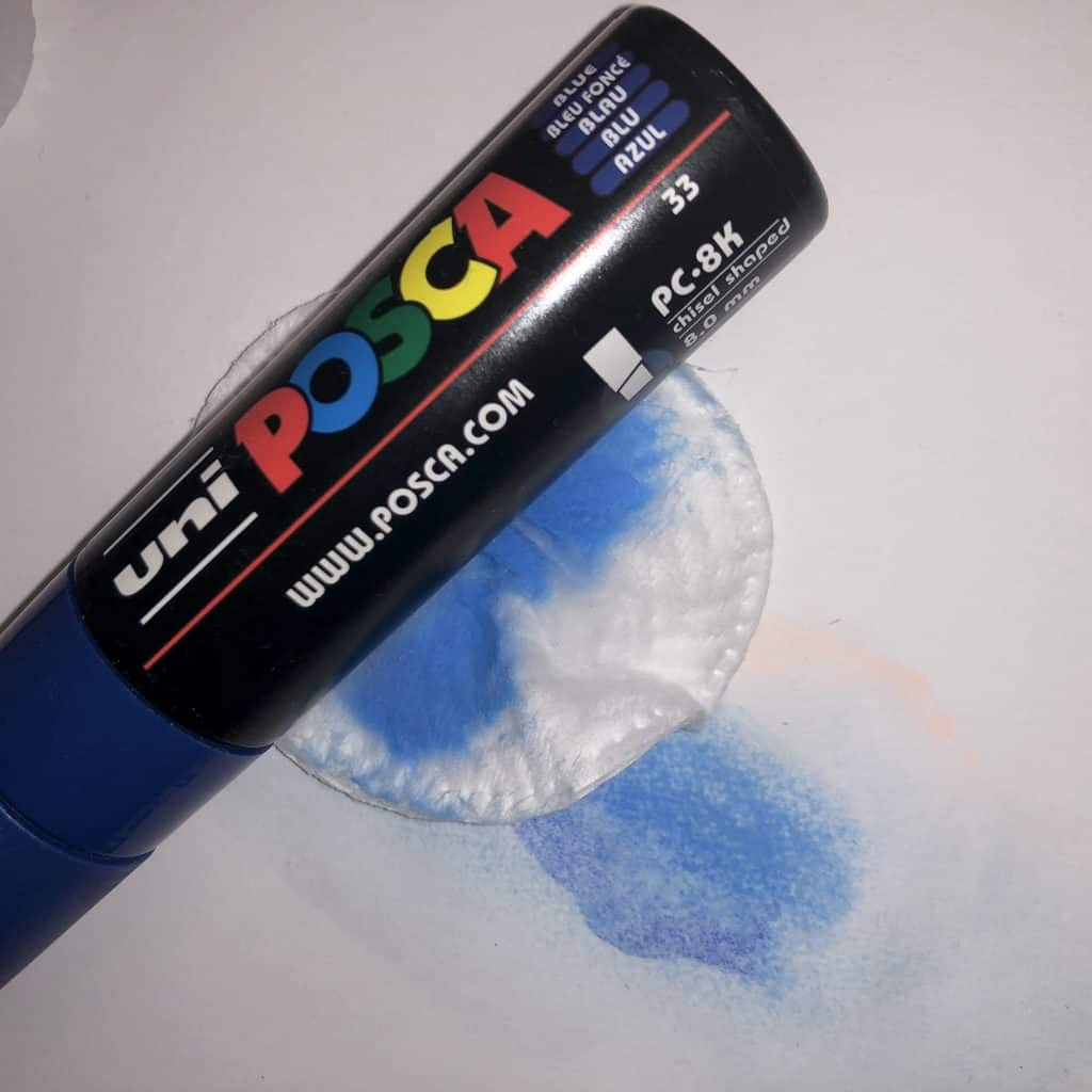 uni posca q tip and make up pad