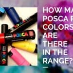 How many posca pen colors are there in the range