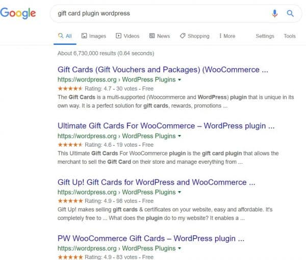Gift Cards for WordPress