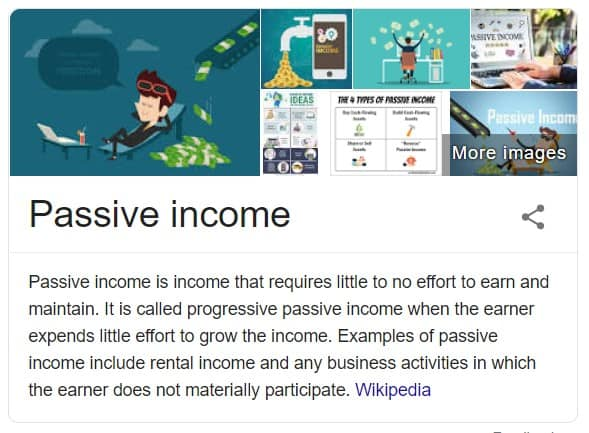 Passive income, what is it
