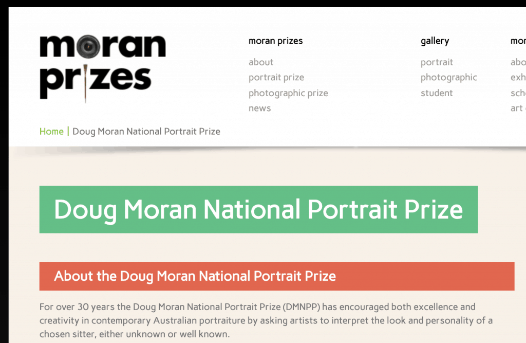 Doug Moran National Portrait Prize