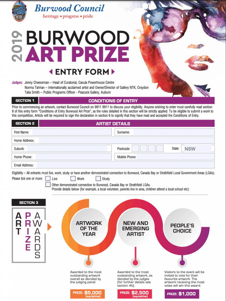 Art Prize Entry form 1