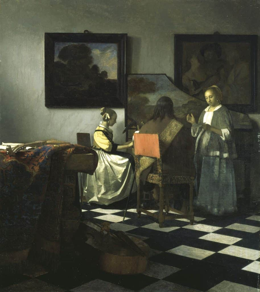 Most expensive painting ever stolen - The Concert by Johannes (Jan) Vermeer