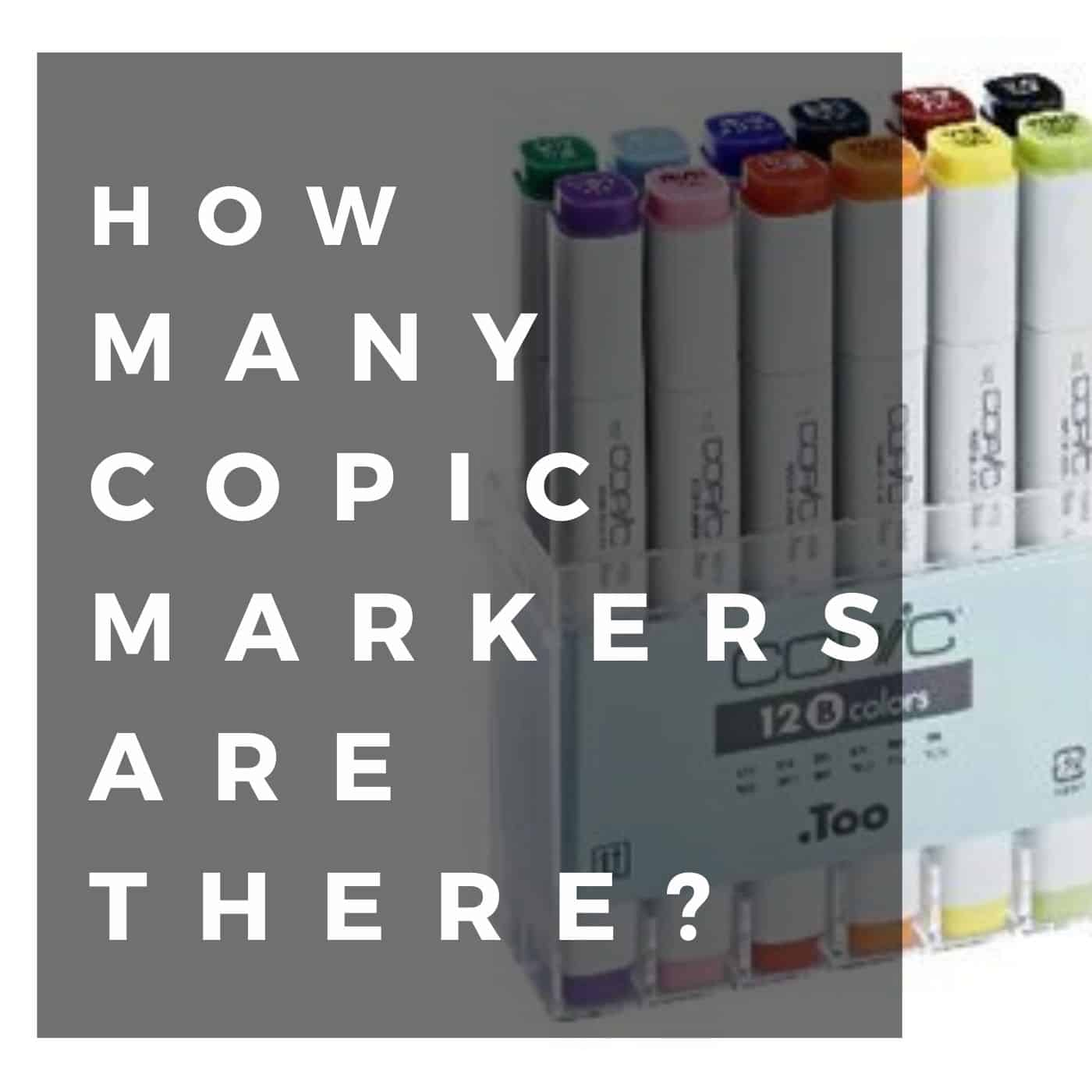 How Many Copic Markers Are There?