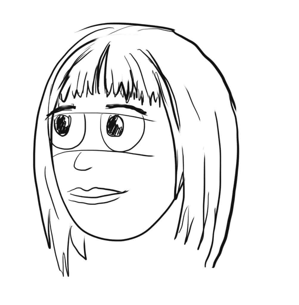 Now do the same for the rest of the bangs and now you have a complete drawing of straight bangs!