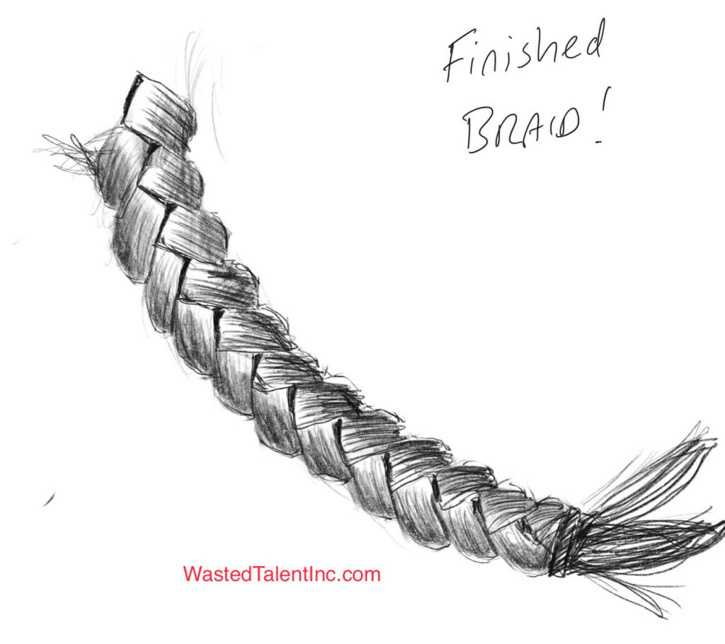 Finished How to draw braids