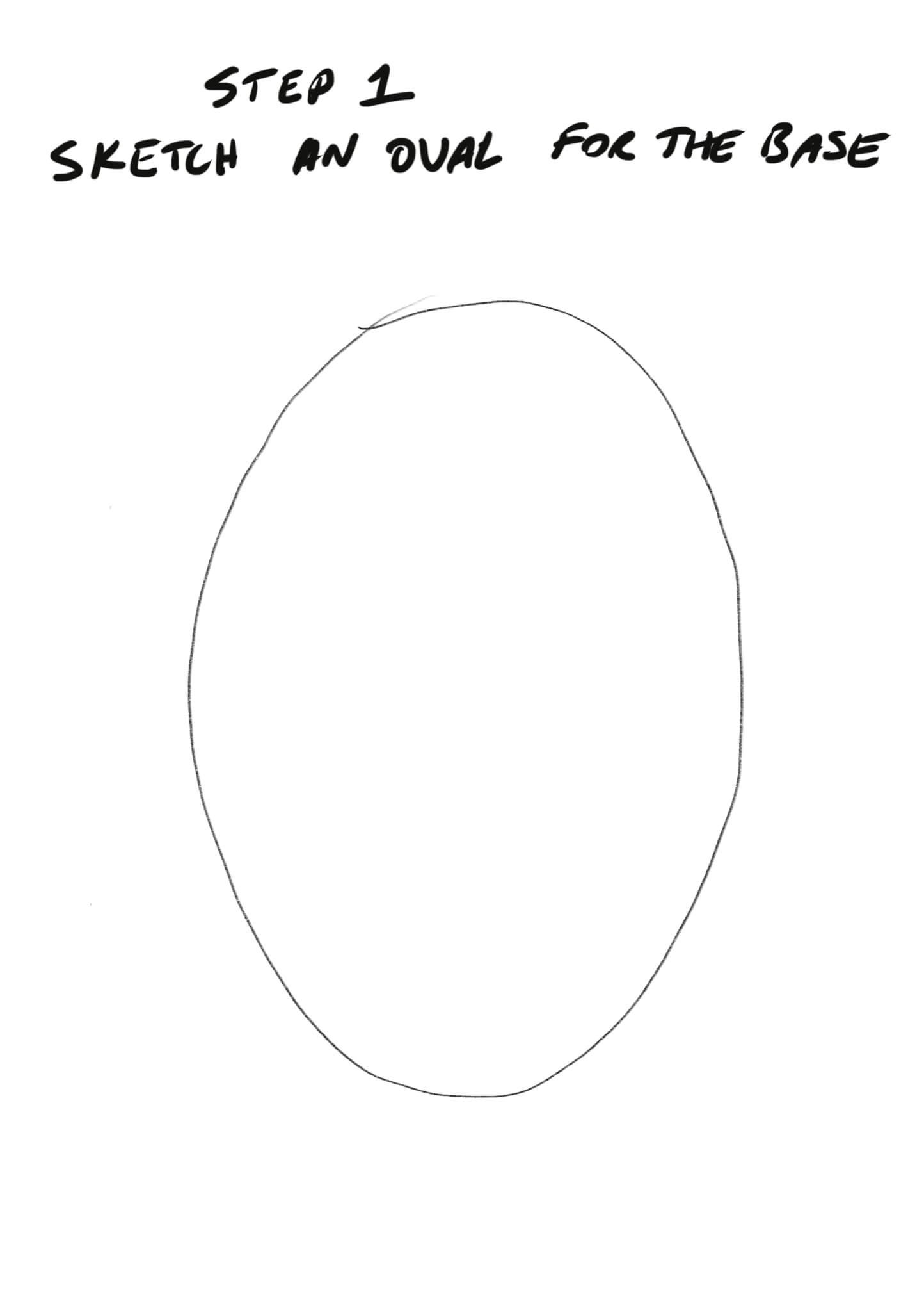 How to Sketch a Face - Step 1