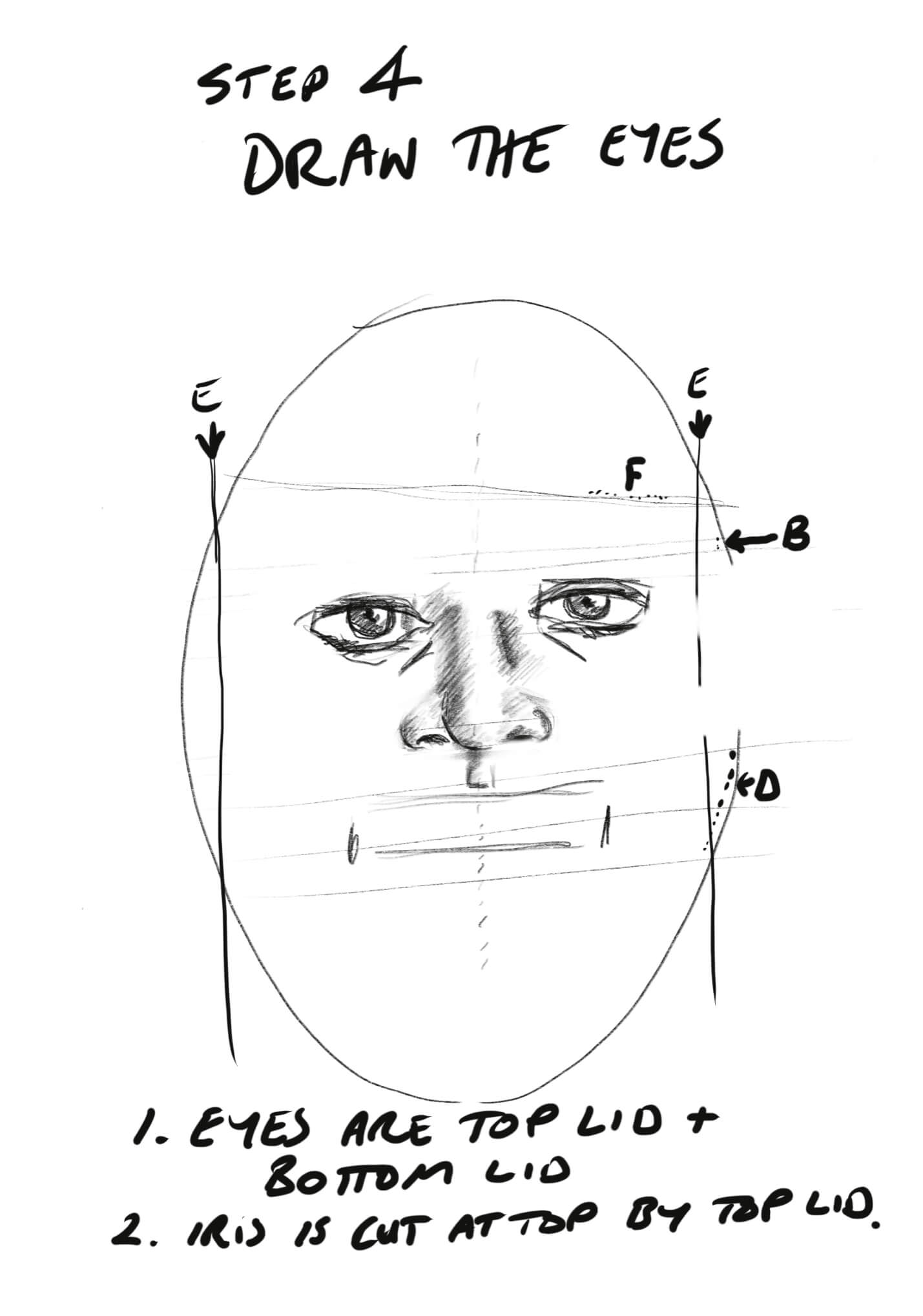How to Sketch a Face Step 4.2