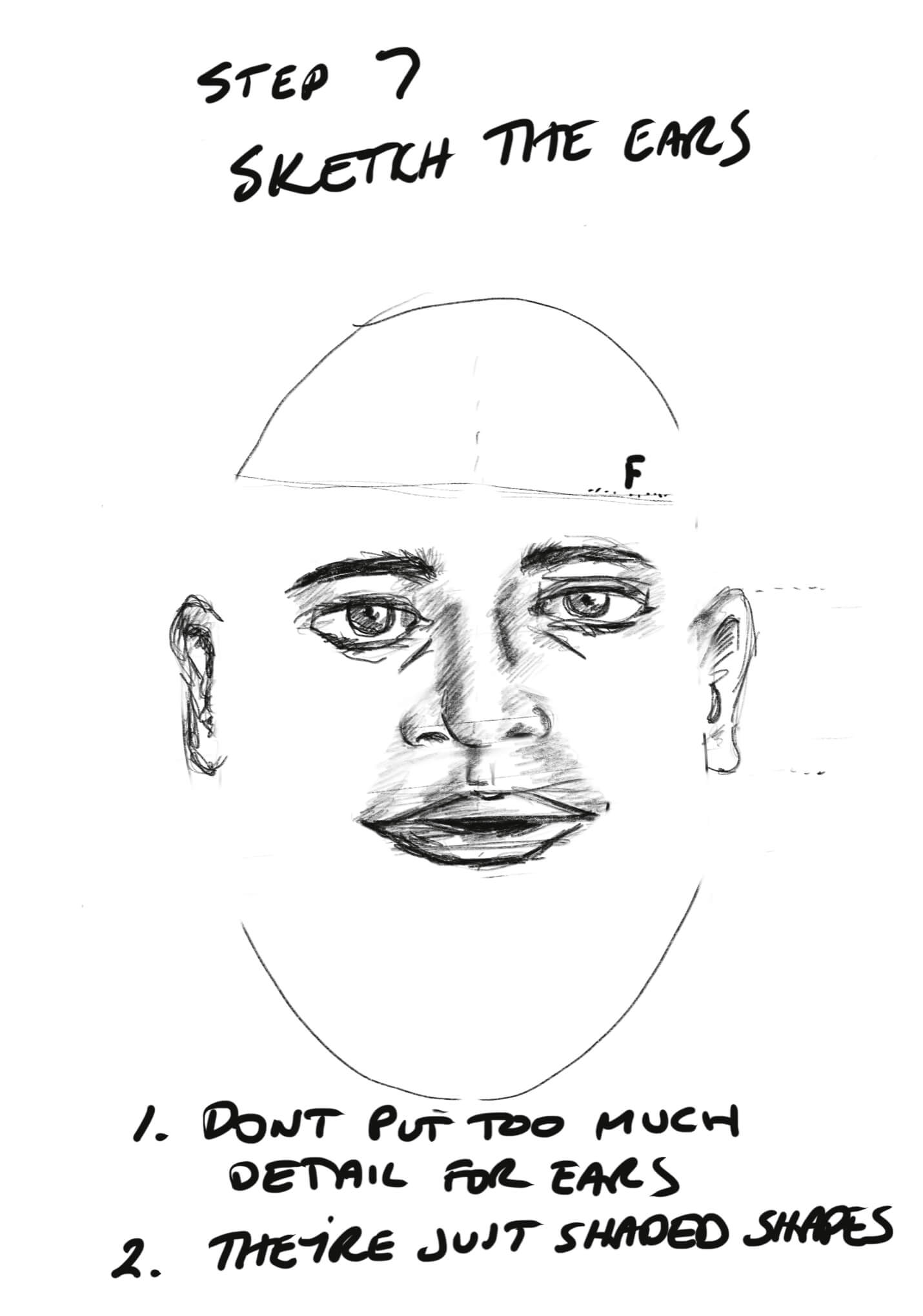 How to Sketch a Face Step 7