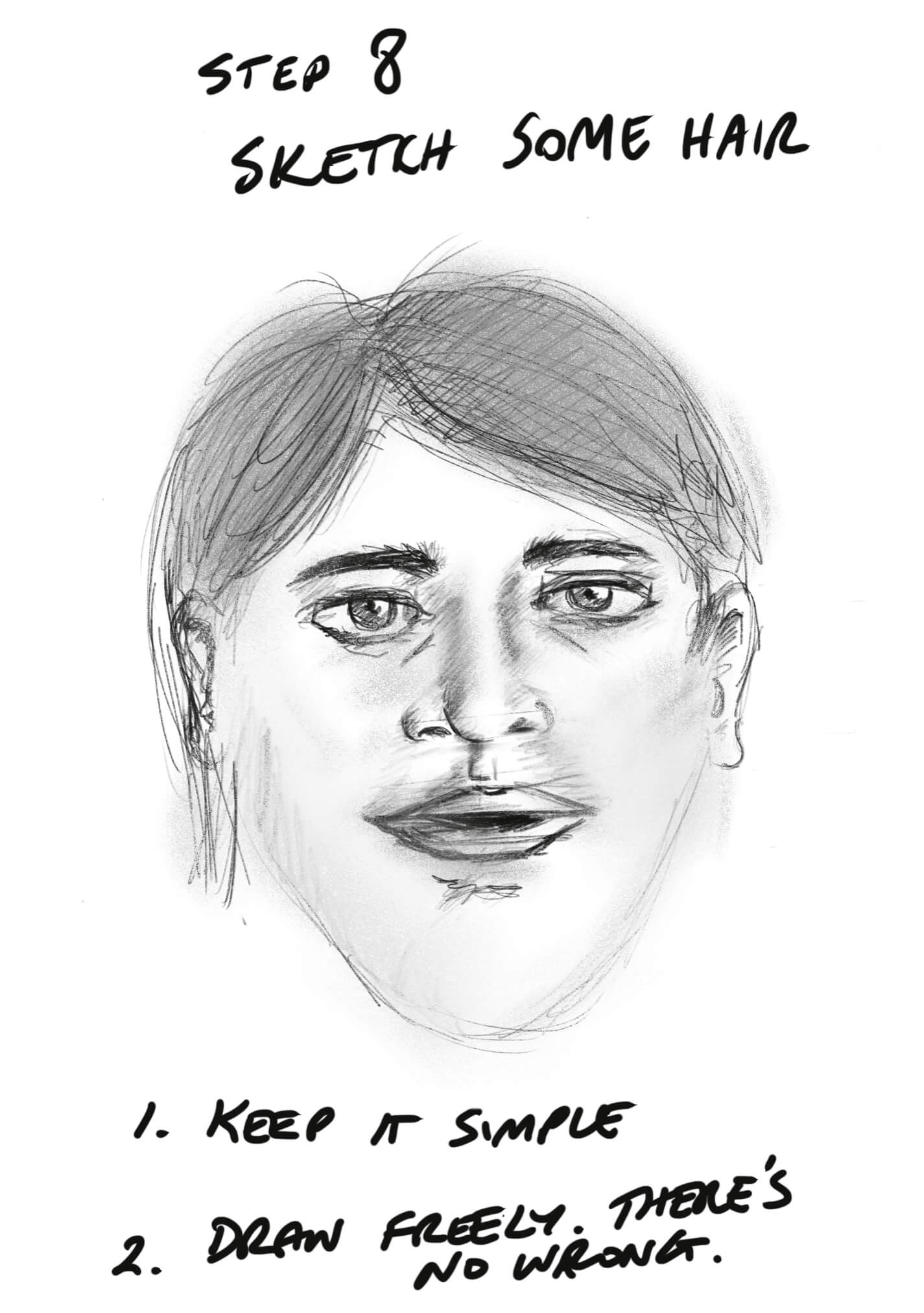 How to Sketch a Face Step 8