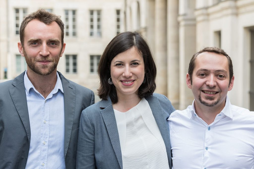 SINGULART Co-Founders Brice Lecompte, Véra Kempf and Denis Fayolle
