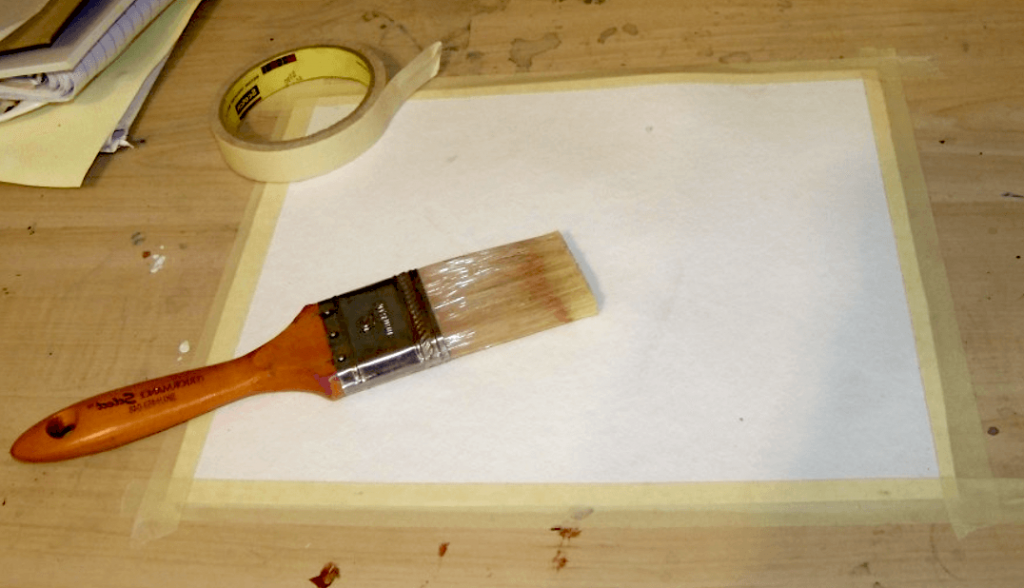 How to stretch paper for watercolor painting