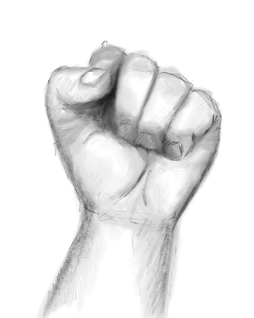How to draw a clenched fist