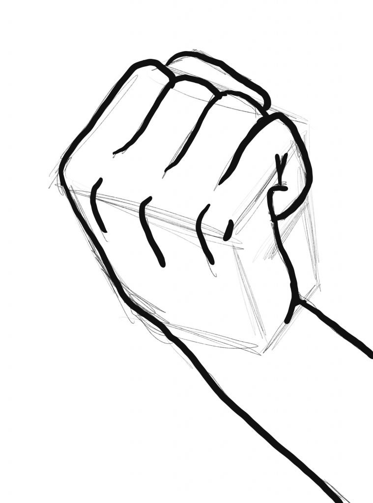 inked in anime clenched fist